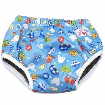 BABYKIDS95 Day Pant ชาโคล ผ้าอ้อมเอวสวม กันน้ำ A18 Size M รอบเอว 14-20 นิ้ว (Cars-Blue)