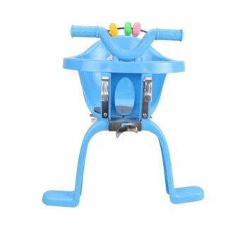 ThaiTrendy เก้าอี้นั่งเสริมจักรยาน สำหรับเด็ก มาพร้อมของเล่นด้านหน้า สีฟ้า