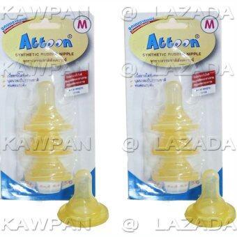 Attoon จุกนมยางธรรมชาติ ไซส์ M (แพ็ค 6 ชิ้น)