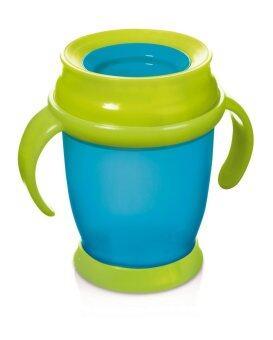 Lovi แก้วหัดดื่ม 360 องศา รุ่น Mini 210 ml. (9M+) - สีน้ำเงิน