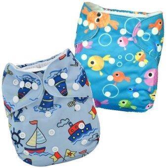 BABYKIDS95 กางเกงผ้าอ้อมกันน้ำ รุ่นดีลักส์ ไซส์เด็ก 3-16กก. เซ็ท 2ตัว แบบที่ 25