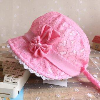 Harga Bear Fashion Baby Lovely Lace Flower Infant Newborn Girls Boys Hats Caps - intl