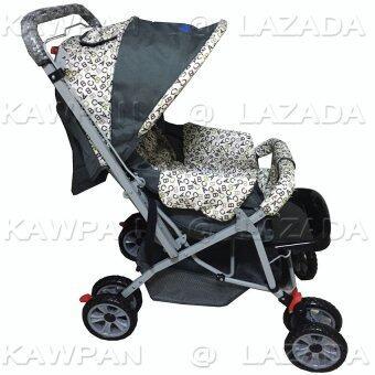 Attoonรถเข็นเด็กABC 3ระดับ(นั่ง/เอน/นอน)รุ่นBEE 3 (สีขาว/ดำ)