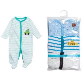 ชุดนอน ชุดใส่อุ่นสำหรับเด็กอ่อน แรกเกิด-1ปี ลายเด็กผู้ชาย # HSCP001
