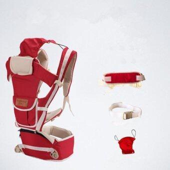 ใหม่ สีแดง 10 ใน 1 มัลติฟังก์ชั่ ไหล่เดี่ยวและคู่ ผู้ให้บริการทารก Baby Carrier เอว เข็มขัด with เอว ม้านั่ง - intl
