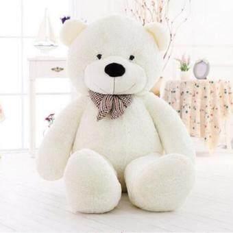 น่ากอดตุ๊กตาหมีเท็ดดี้ของเล่น Cuddly Stuffed Plush Teddy Bear Toy Animal Doll White 60CM - intl