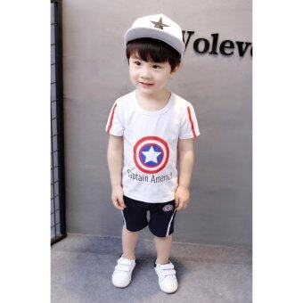 Harga Bear Fashion Baby Girls Boys Kids Children Cool T-shirt + Short Summer Set - intl