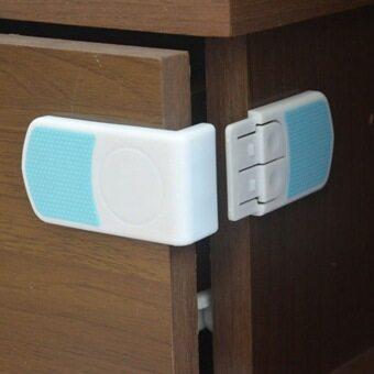 Jiayiqi 5ชิ้น พลาสติกล็อกตู้ลิ้นชักตู้เด็กสนใจตู้เย็นตู้ตู้ประตูห้องน้ำ