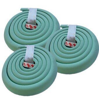 MoMoLand โฟมยางกันกระแทกสำหรับเด็ก ความยาว 2 เมตร Soft Edge Cushion Strip รุ่น FKT-3106 - GREEN (ชุดเชต 3 ม้วน)