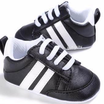 รองเท้าหัดเดิน รองเท้าเด็กอ่อน รองเท้าเด็กพื้นผ้า baby shoe Prewalker ของใช้เด็กอ่อน รองเท้าทารก รองเท้าเด็กเล็ก รองเท้าบูทเด็กอ่อน สีดำ