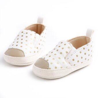 ขาว ๆ ลื่นพื้นรองเท้าทารกแรกเกิดร้อนรองเท้าเด็กหนุ่มสาวบนรองเท้าผ้าฝ้ายพู่ S1466 - Intl