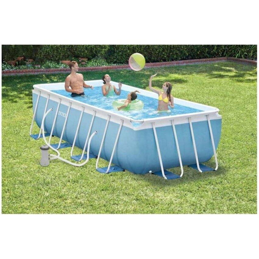 Intex 28314 สระว่ายน้ำใหญ่ Prism Frame Rectangular Pools ขนาด 3.00m x 1.75m x 80cm