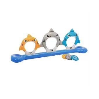 Intex 57501Inflatable Feed the Sharks Disk Toss Pool Game เกมโยนเหรียญเป่าลม