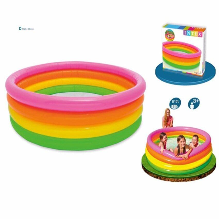Intex Rainbow Pool สระเป่าลมซันเซ็ตโกลว์ 66 168cm. รุ่น 56441 image