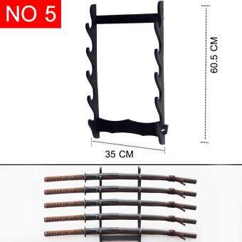 JAPAN ขั้นวางดาบ ซามูไร ติดผนัง รุ่น 5 ชั้น วางดาบได้ 5 เล่ม ( ติดตั้งง่าย ใช้ติดกับกำแพง ) สำหรับนักสะสม