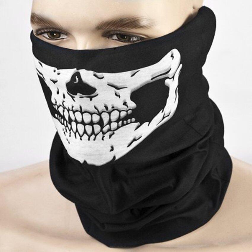 JinGle Halloween Skeleton Ghost Skull Face Mask Cosplay Balaclava Costume (Black) image