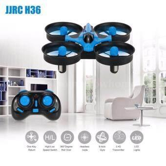 โดรนจิ๋วพลังแรง JJRC H36 Mini Drone 4 ใบพัด 6 Axis แบตเตอรี่ชาร์จไฟได้ กดปุ่มบินกลับ หมุนตัว 360 องศา สีฟ้า-ดำ สำหรับมือใหม่เริ่มต้น Return Home Roll over 360 Black Blue for Starter