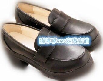 JK วิทยาลัยลมสไตล์ญี่ปุ่นสีดำรองเท้ารองเท้า
