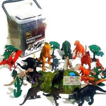 JKP Toys โมเดลจำลองสัตว์พลาสติกเกรดดี ลายไดโนเสาร์ จำนวน 25 ชิ้น