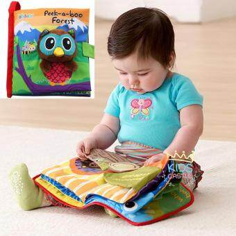 Jolly Baby หนังสือผ้าเสริมพัฒนาการสามมิติรุ่นมีกล่อง Jollybaby PlayIdeas (Peek-a-Boo Forest)