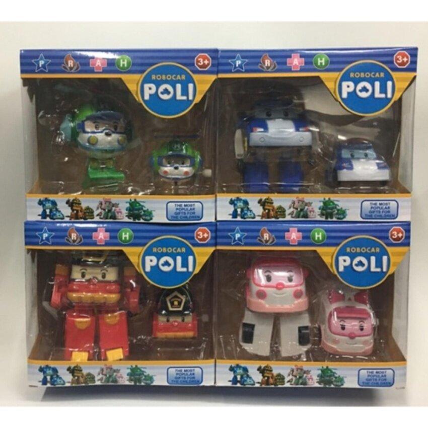 JP-TOY หุ่นยนต์แปลงร่าง Robocar Poli (1 ชุดมี 8 ตัว)
