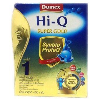 ขายยกลัง! Dumex Hi-Q Supergold 1 ไฮคิว ซูเปอร์โกลด์ พรีไบโอโพรเทก 600 กรัม (12 กล่อง/ลัง)