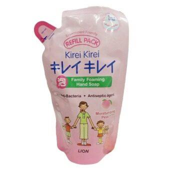 ขายยกลัง LION Kirei Kirei Family Foaming Hand Soap สีชมพู กลิ่นพีช 200 ml (12 ถุง)