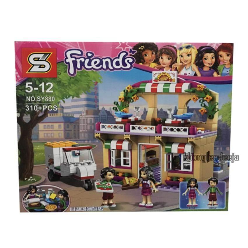 Khonglendee ชุดตัวต่อเลโก้ Friends ร้านขายพิชซ่า No.SY880 (310+ PCS.)