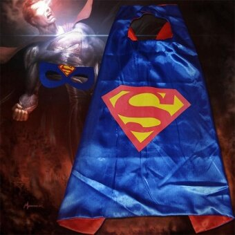 Kid Super Hero Cape Mask Blinder Fancy Costume Boy Cosplay OutfitParty Favors - intl