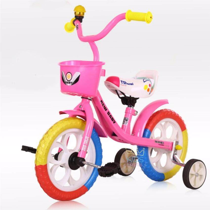 Kids Castle จักรยานสามล้อสำหรับเด็กรุ่นใหม่สีชมพูพาสเทล