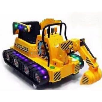 Kids castle รถแบตเตอรี่แม็คโครรถตักโยกได้บังคับตักได้ 2แบต 2มอเตอร์