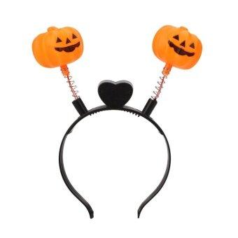 Kids Halloween Party Bar Orange Pumpkin Skull Bat Headband Headbands Decoraton - intl
