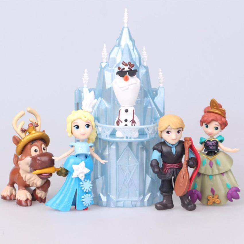 Kids Toys ของเล่นโมเดลเจ้าหญิง พร้อมปราสาทน้ำแข็ง (1 ชุด มี 6 ชิ้น)