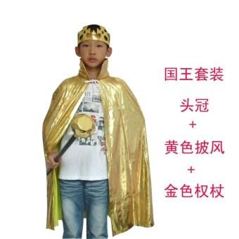 KING AND QUEEN มงกุฎคทาเสื้อคลุมเสื้อคลุมเสื้อคลุมฮาโลวีน