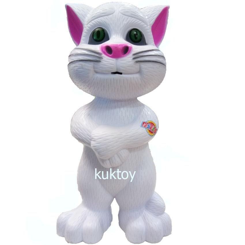 KUKTOY แมวทอมอาเซี่ยน พูดได้ หลายภาษาTalking Tom Cat สีขาว BS-19
