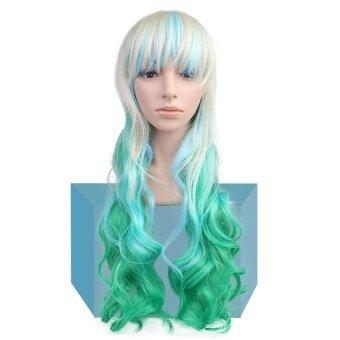 Ladies Women Long Curly Big Wavy Hair Heat Resistant Cosplaycostume Wig - intl