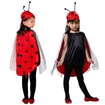 Ladybug Costume Girls Ladybird Halloween Fancy Dress Animal Insect Outfit Cosplay Costume M - intl
