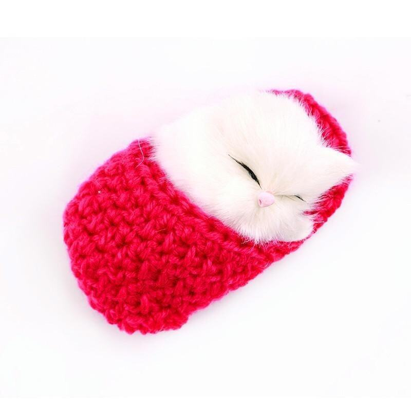 LALANG Cute Simulation Sounding Shoe Kittens Cats Plush Toys Kids Appease Doll (Rose) - intl image