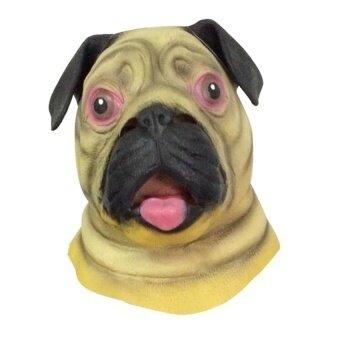 Latex Shar Pei Dog Head Mask For Halloween Party Custom - intl