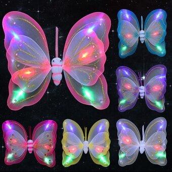 นางฟ้าที่มีสีสัน LED แฟลชคู่สามชิ้น
