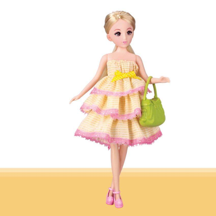Lelia ตุ๊กตาหน้าแบ๊ว พร้อมกระเป๋าและรองเท้า (ชุดสีเหลือง) image