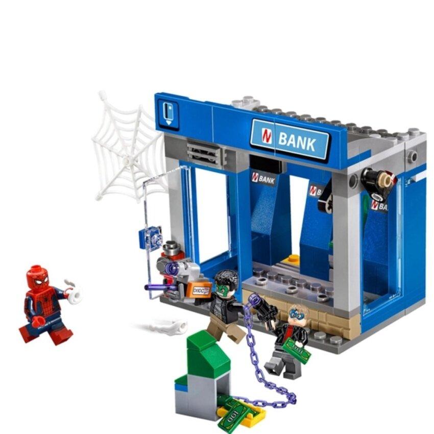LEPIN Spider-Man ATM Heist Battle ตัวต่อสไปเดอร์แมนจับโจรงัด ATM