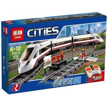 ชุดตัวต่อ เลโก้จีน LEPIN02010 High-Speed Passenger Train ในชุดสะสม City