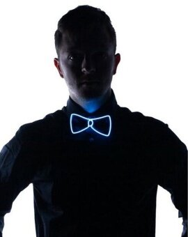Light Up Bow Tie White Light - intl