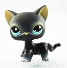 Littlest Pet Shop LPS Black Short Hair Kitty Cat Blue Eyes Animals Girl