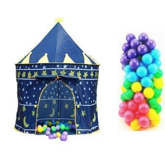 Lookmee Shop ปราสาทเจ้าชายสีน้ำเงิน + บอลหลากสี 100 ลูก