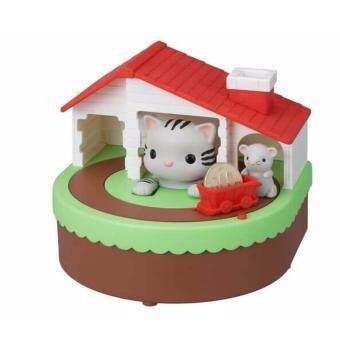 Lookmee Shop กระปุกออมสินแมวกับหนูน้อยนักออมแถมฟรีถ่าน 2 ก้อน