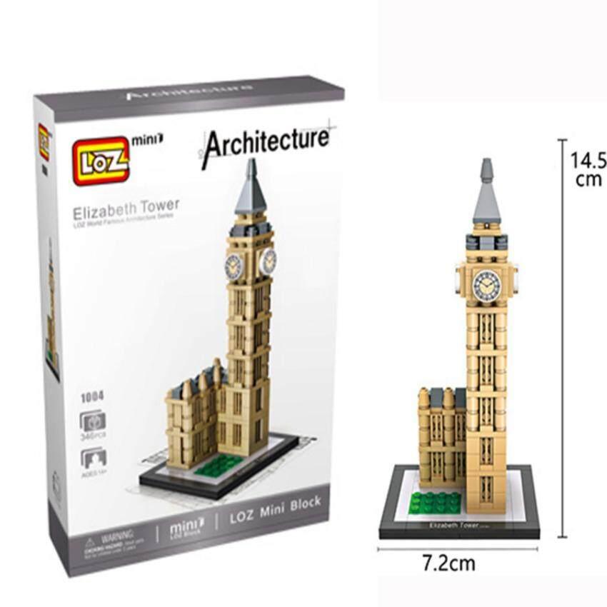 LOZ Big Ben Elizabeth Tower เลโก้จีน ตัวต่อหอนาฬิกาบิ๊กเบน ลอนดอน 346 ชิ้น รุ่น1004