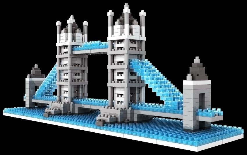 Loz Diamond Block Architecture Tower Bridge London England Lego เลโก้ โมเดลทาวเวอร์บริดจ์