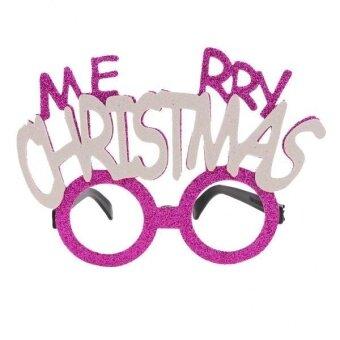 MagiDeal Glitter Merry Christmas Letters Eye Glasses CelebrationParty Fancy Dress - intl